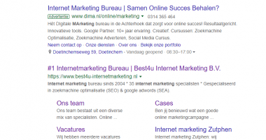 1 Internetmarketing Bureau Best4u Internet Marketing Bv