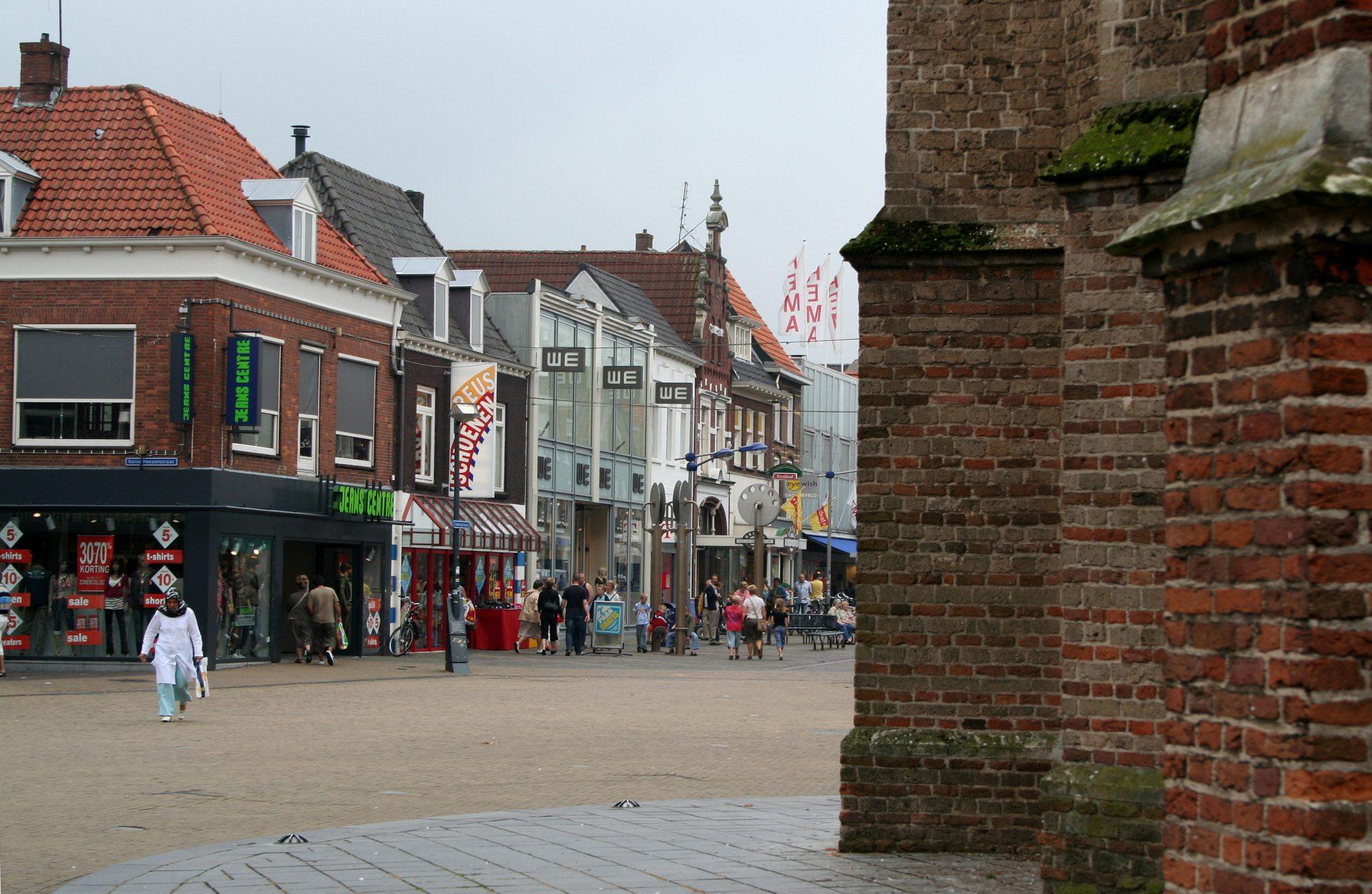 De binnenstad van de Gelderse stad Doetinchem