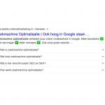 Rich snippet zoekmachine optimalisatie