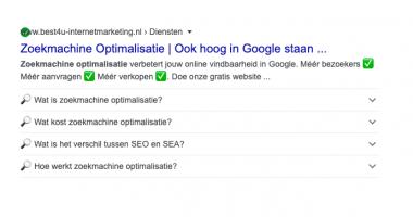 Opvallen in Google met rich snippets